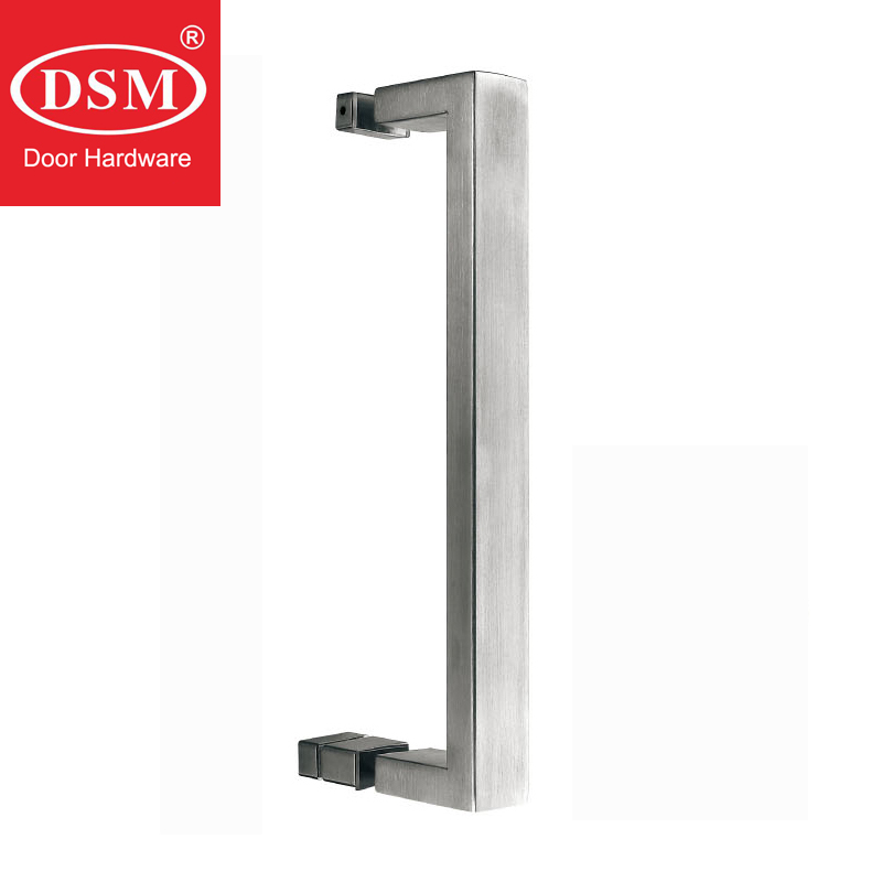Shower Pull Handle Glass Door Handles For Bathroom Doors PA-614-30*15*415mm antimicrobial copper cu door pull handles entrance door handle 25 475mm for glass wooden frame doors hm71