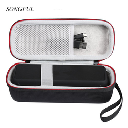 Travel Wireless Bluetooth Speaker Hard EVA Cases For Anker SoundCore 2 With Mesh Dual Pocket Audio Cables With Strap Zipper Bag