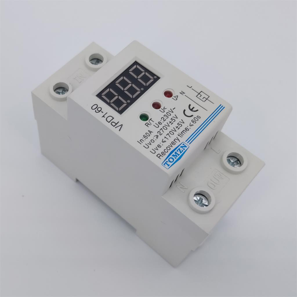 Auto Recovery Reconnect Overvoltage Undervoltage Protector Circuit Breaker UK