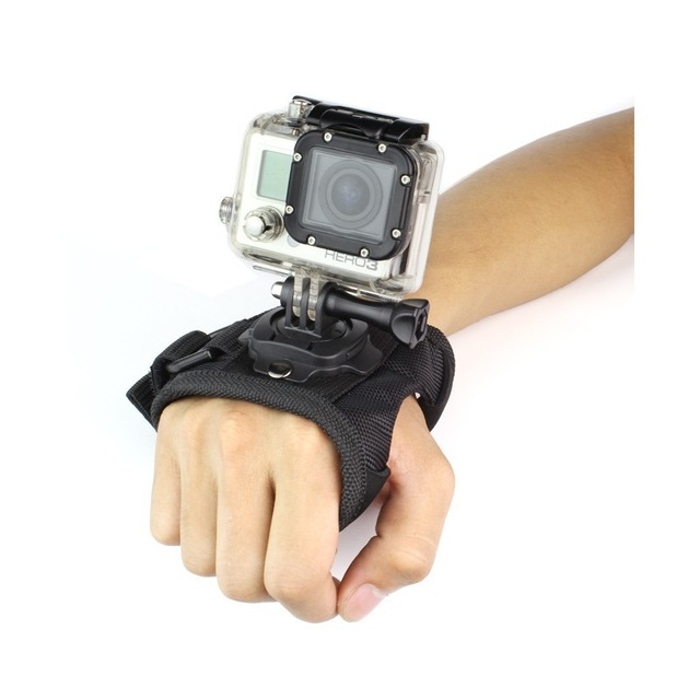 GoPro Accessories 360 Degree Rotation Glove style Wrist Hand Band Mount Strap For GoPro Hero 4 Hero 4 Session 3+ 3 2 Xiaoyi cam