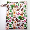 New Travel Baby Waterproof Cloth Diaper Bags Digital Print Reusable Nappy Bags Zipper Wet Dry Bags Wetbags Bolsos Maternales