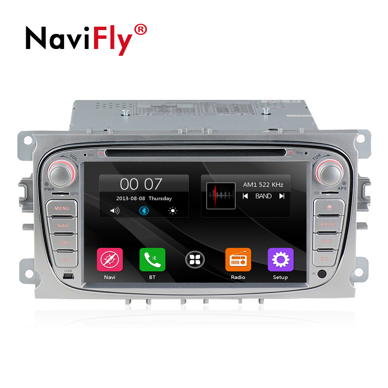 Navifly Free shipping 7 car multimedia gps navigation system for ford focus 2008 2011 Car Radio GPS Navi BT 1080P Ipod Map
