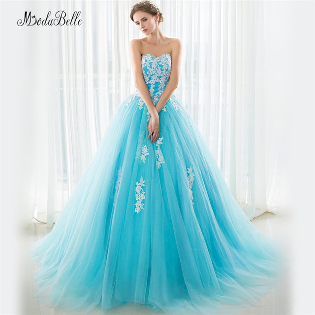 30d6a7239d2 Ruffles Princess Light Blue Quinceanera Dresses Beaded Prom Gowns Dresses  15 Years Court Train Vestidos Para Quinceaneras 2016