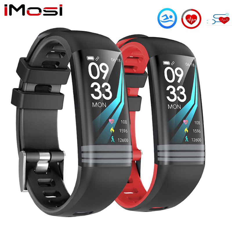 G26s Smart Fitness Bracelet Continuous Heart Rate Monitor Blood Pressure Tracker Color Screen Watch Men Women