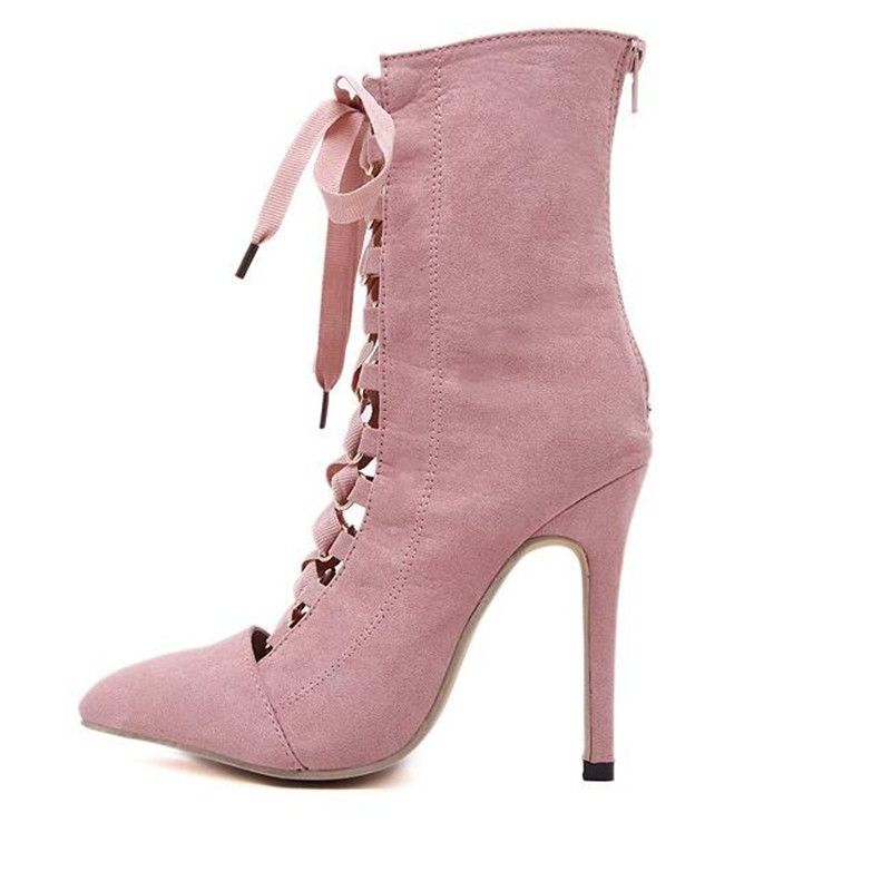 designer suede extreme high heels shoes women summer boots ankle boots for women luxury brand gladiator boots pointed toe boots