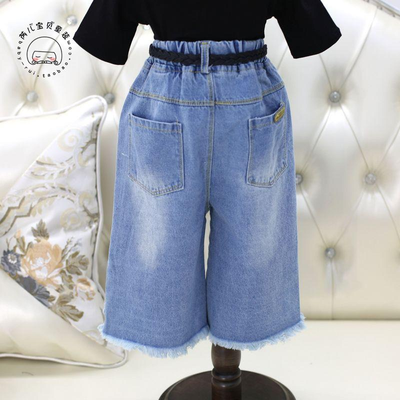 2017 new spring&summer baby girls jeans holes novelty style  children pants for sprot&party solid comfortable trousers for kids