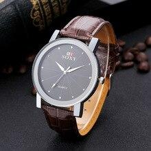 Relógios dos homens relógios com pulseira de couro diamante relógios para homens relógio de negócios de moda para o povo Russo relógio de pulso dos homens