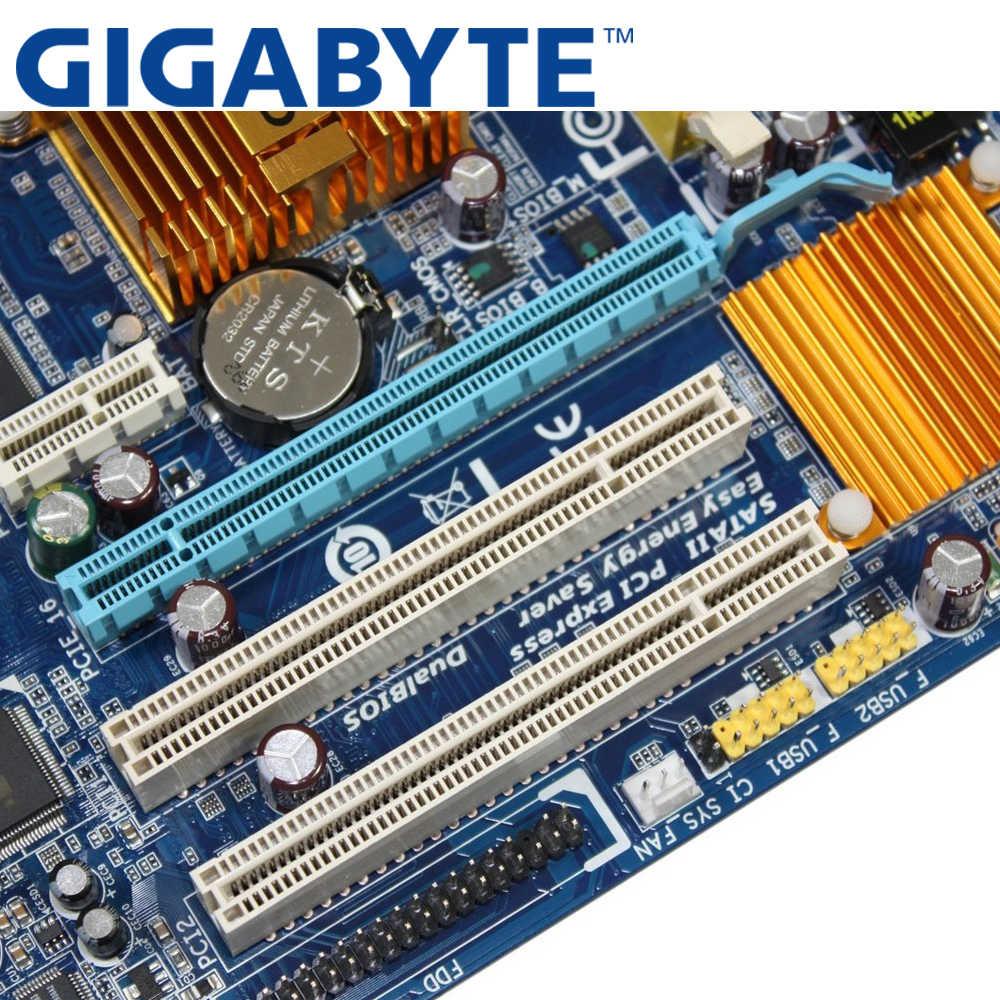 GIGABYTE GA-G31M-ES2C เมนบอร์ดเดสก์ท็อป G31 ซ็อกเก็ต LGA 775 สำหรับ Core 2 DDR2 4G Micro ATX เดิมใช้ G31M-ES2C Mainboard