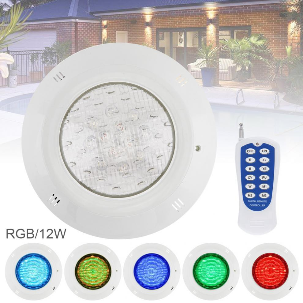 18 LED 12W 12V RGB 3000K Remote Control Wall-mounted Waterproof Light Underwater Multi-Color Light for Swimming Pool / Outdoor18 LED 12W 12V RGB 3000K Remote Control Wall-mounted Waterproof Light Underwater Multi-Color Light for Swimming Pool / Outdoor
