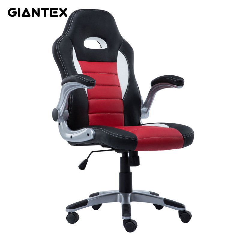GIANTEX Comfortable PU Leather Ergonomic Office Chair Armchair Executive Chair Boss Lift Chair Swivel Chair Office Furniture home computer chair swivel boss chair genuine leather office chair ergonomic seat lifting executive protecting the neck armchair