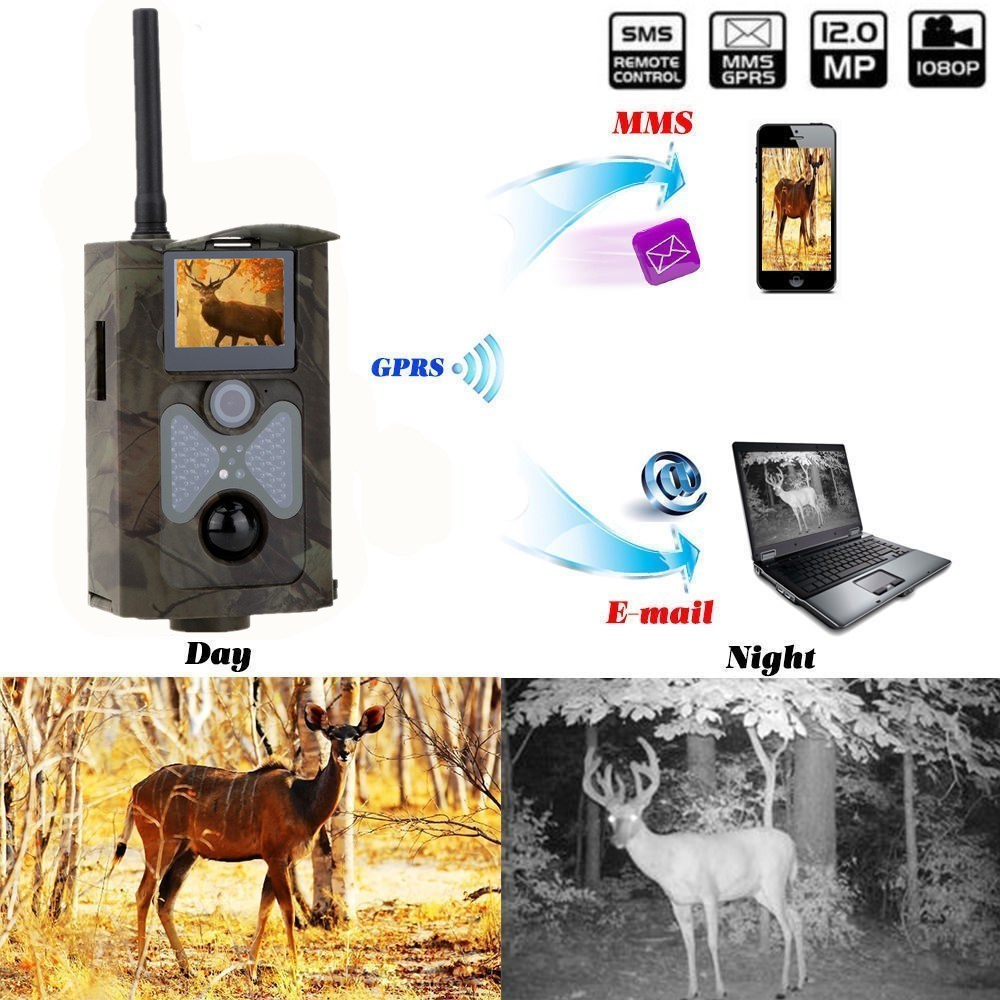 Wildlife motion Triggered Trail Camera 12MP 1080P GSM MMS GPRS SMS Control Hunting Trail Camera hc500m 48 Infrared LEDs hc500m hd gsm mms gprs sms control scouting infrared trail hunting camera with 48pcs ir leds night vision wildlife surveillance