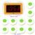 Sistema de Llamada sin hilos 10 unids Llamada Host Receptor Transmisor Botón + 1 unids Pantalla con Transmisión De Voz Equipo de Restaurante F3259