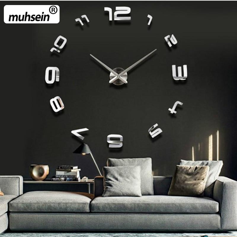 큰 침묵 벽 시계 Saat 클래식 스타일의 홈 장식 장식 거실 시계 패션 간단한 석영 시계 큰 시계