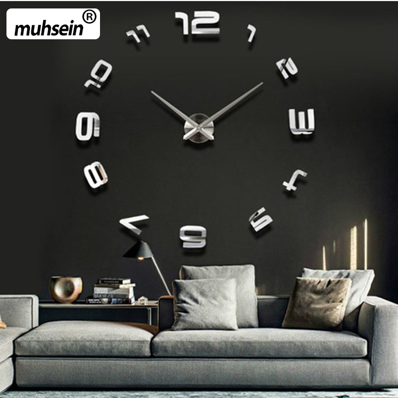 Veliki tihi zidni sat, klasični stil uređenja doma, uređenje dnevnog boravka satovi modni kratki kvarcni satovi veliki satovi
