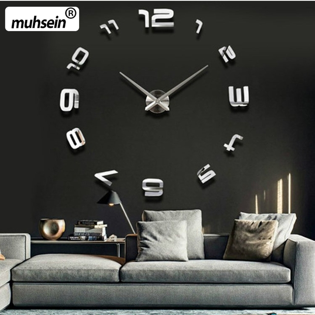 Buy Large Silent Wall Clock Saat Classic Style Home Decor Decoration Living