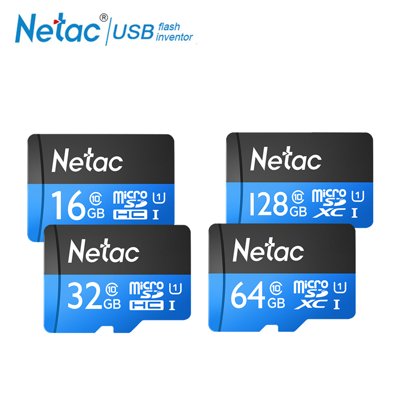 Netac P500 Class 10 32GB 64GB Micro SD Card Read Speed Up To 80MB/s 16 GB 128GB UHS-1TF Flash Memory Card For Cell Phones Camera netac class 10 16gb 32gb micro card sdhc tf card flash memory card data storage high speed 80mb s micro sd card for phone