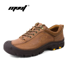 Купить с кэшбэком Spring Autumn Genuine Leather Casual Shoes Men Male Outdoor Walking Shoes Comfortable Non Slip Working Men Shoes Dropshipping
