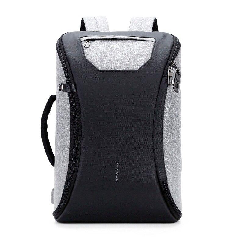 15 Inch Laptop Backpack Fingerprint Anti Theft Backpack Men  Travel Backpack Waterproof School Bag Maletop-handle Bags