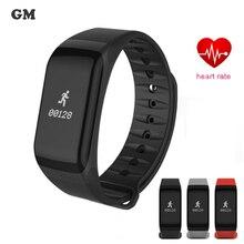 SmartBand Часы F1 Приборы для измерения артериального давления Bluetooth браслет сердечного ритма Мониторы смарт-браслет Фитнес для Android IOS Телефон