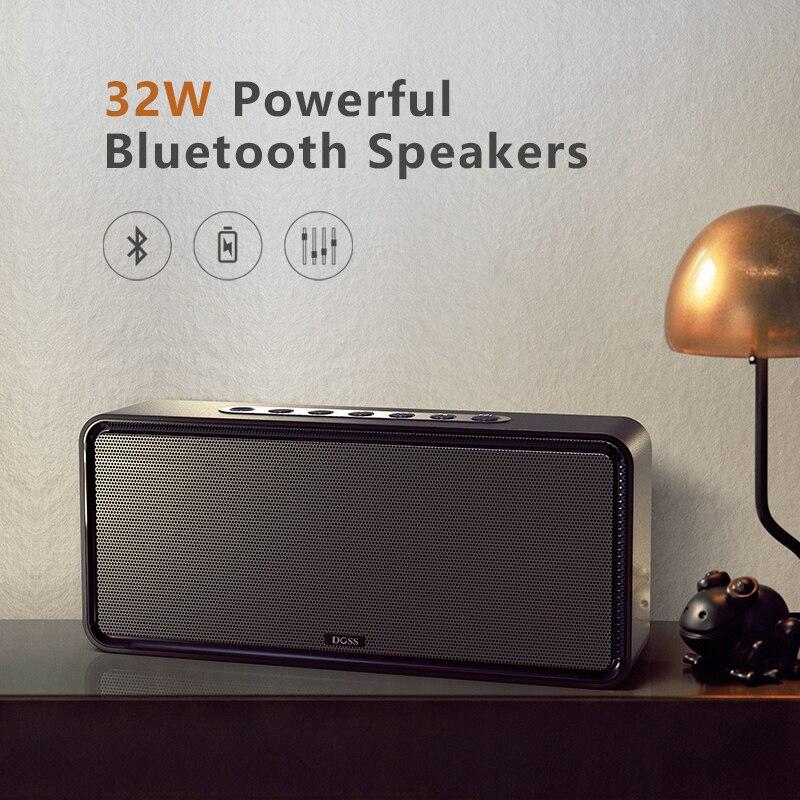 DOSS caja de resonancia XL Portátil inalámbrico Bluetooth altavoz Dual-conductor 3D estéreo audaz Bass altavoz inalámbrico TF AUX USB - 2