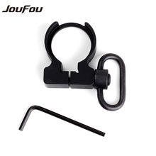 JouFou Tactical QD Quick Detach Black End Plate Sling Swivel Adapter Mount for Hunting .223/5.56 Carbines AR15 M4 Rifle