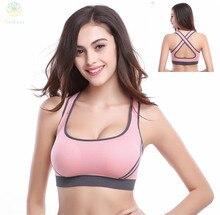 2016 Women Anti-Bacterial Breathable Sports Bra Gym Shaper Body Underwear Running Fitness Yoga Intimates Push Up Bralette B E C