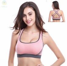 d1ab516e9f435 2016 Women Anti-Bacterial Breathable Sports Bra Gym Shaper Body Underwear  Running Fitness Yoga Intimates Push Up Bralette B E C
