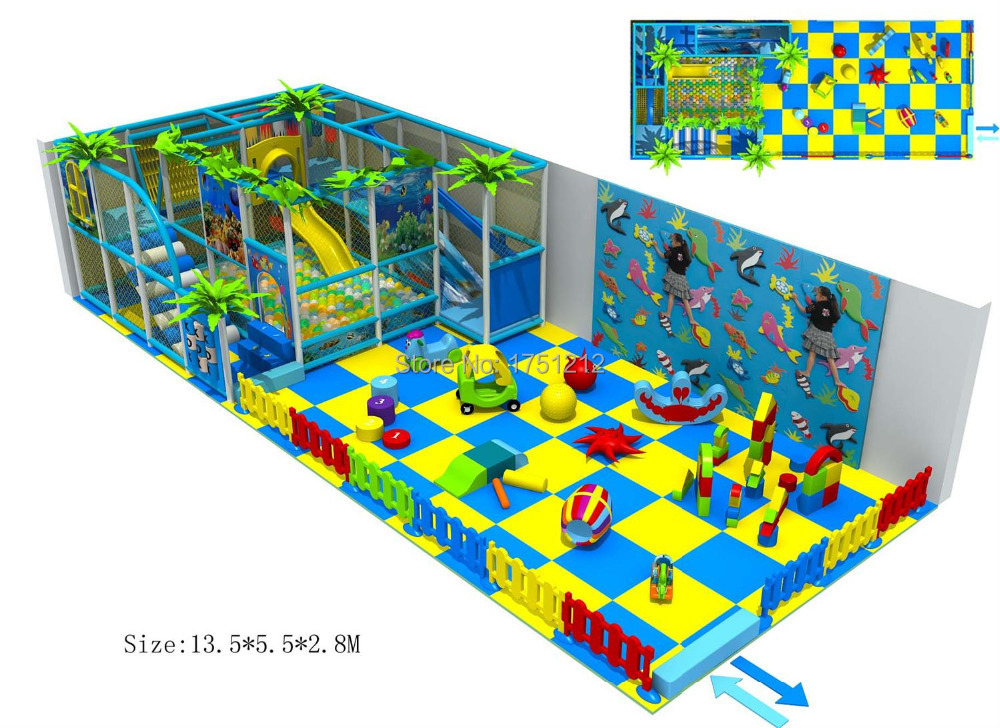 Children playground with baby area revised design for for Indoor soft play