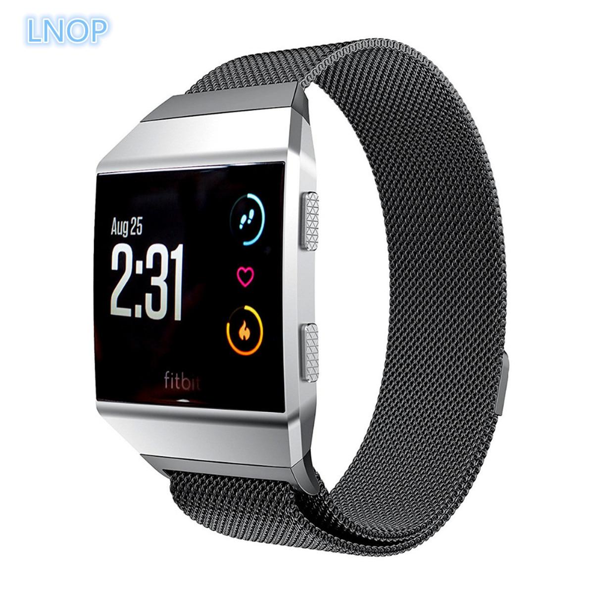 Milanese Schleife Für fitbit ionic band smartwatch strap Link Armband Edelstahl metall ersatz armband smart uhr gürtel