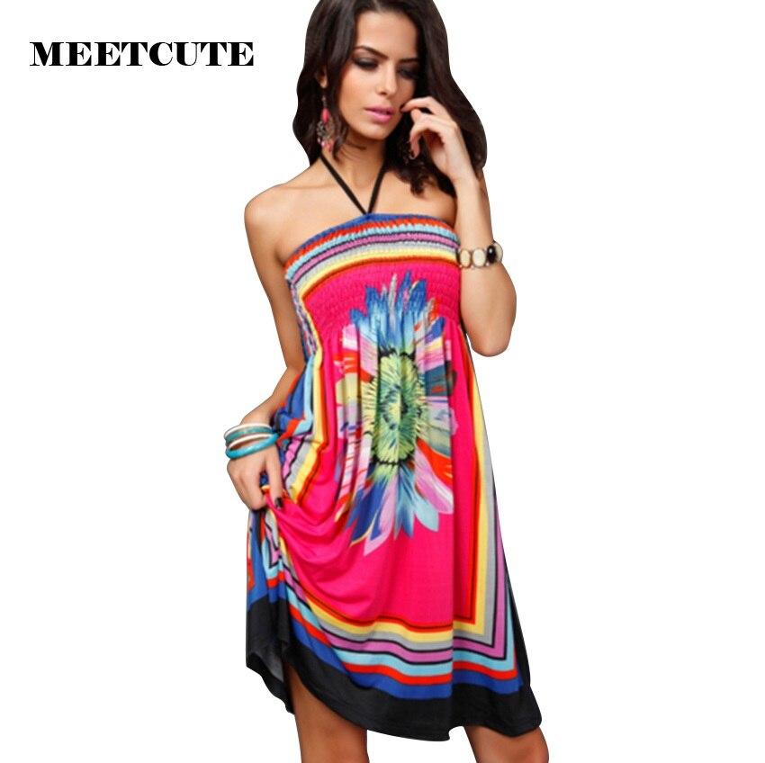 MEETCUTE Sexy Women Beach Dress Long Dress Convertible Wrap Party Dresses Robe Longue Femme