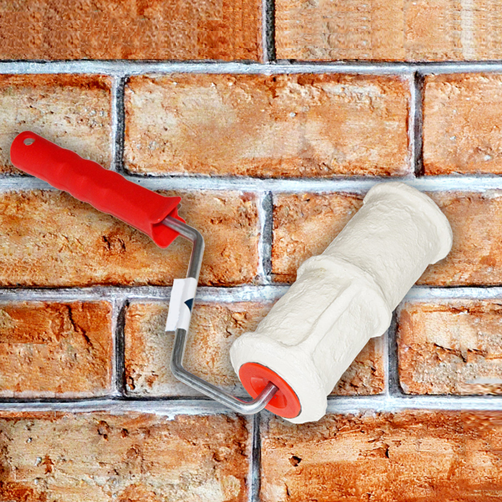 Brush-Handle Construction-Tool Wall-Decoration Patterned-Paint-Roller Embossing-Cylinder