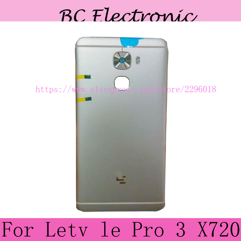Repairment grey Colour battery back case door cover For Letv LeEco Le Pro 3 Pro3 X720 X 720 with side button camera glass
