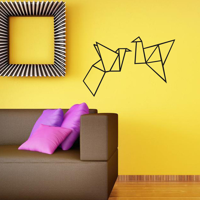 Nordic style Art Origami Geometric Wall Decal Home Decor Bedroom ...