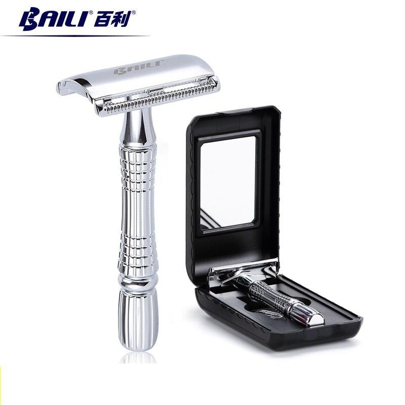 BAILI Classic New Upgrade Safety Razor Manual Exquisite Traditional Double Edge Blade Razor Shaver BT171 2