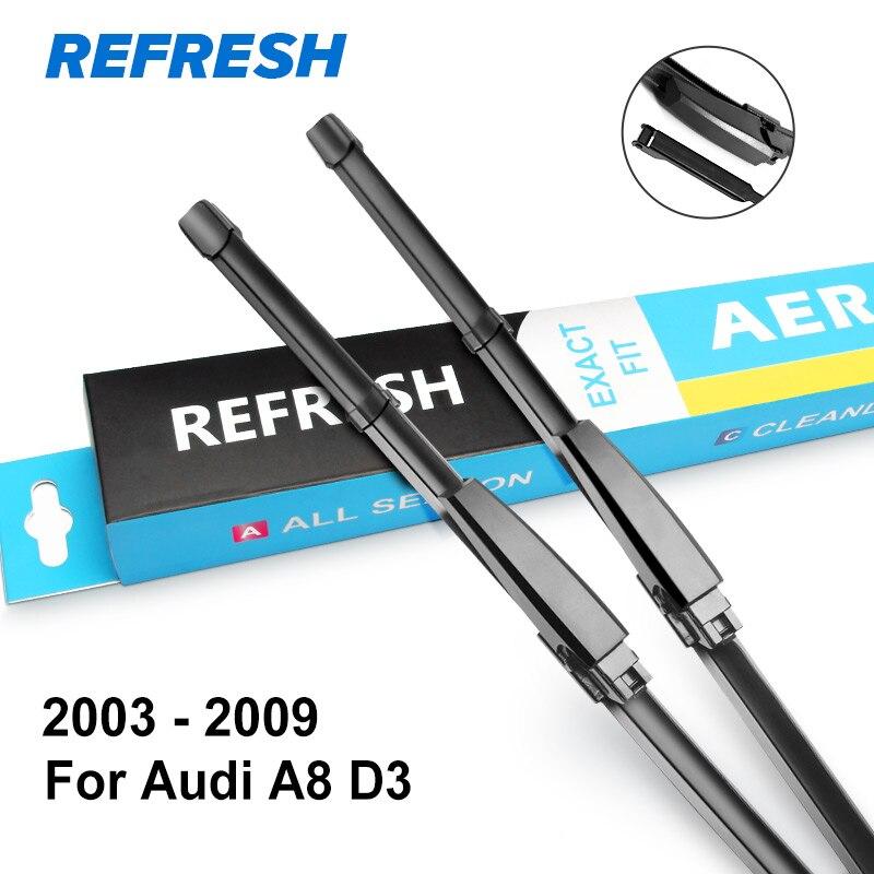REFRESH Щетки стеклоочистителя для Audi A8 D2 / D3 / D4 Подходящие рукоятки крюка / ползунковые рычаги / кнопки с 1994 по год - Цвет: 2002 - 2009 ( D3 )