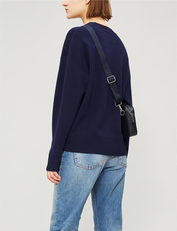 2019 frühling und Sommer Casual Brief Jacquard Pullover Lose Lange Hülse Frauen Pullover-in Pullover aus Damenbekleidung bei  Gruppe 2