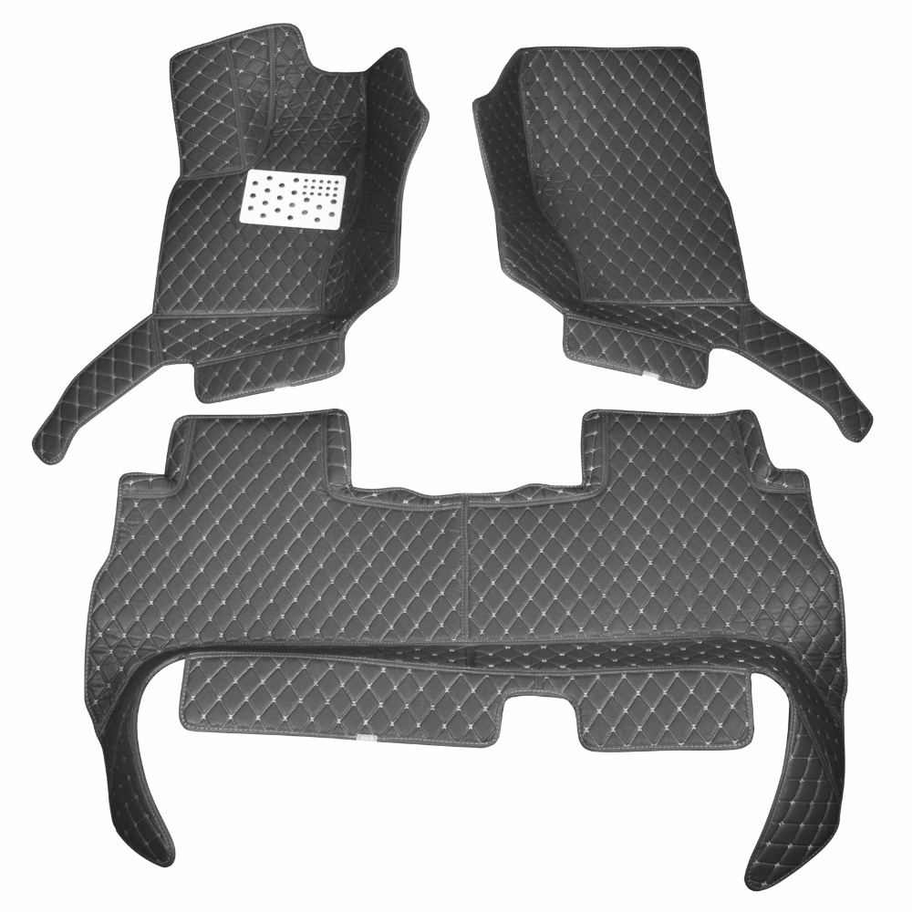 Custom car floor mats for 2013-16 Land Rover Rang Rover Better match with the leather interior of the original car easy clean 10 16 for land rover discovery 4 l319 2010 2016 accessories interior leather carpets cover car foot mat floor pad 1set