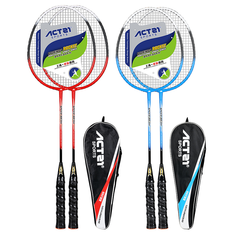 ACTEI 300 Badminton Racket With Bag Ferroalloy Raket Racquet Padel Raqueta