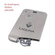 1 шт./лот пустой ключ Новая Замена 2 кнопки Дистанционного Key Card Shell Дело Fob для Renault Laguna 2
