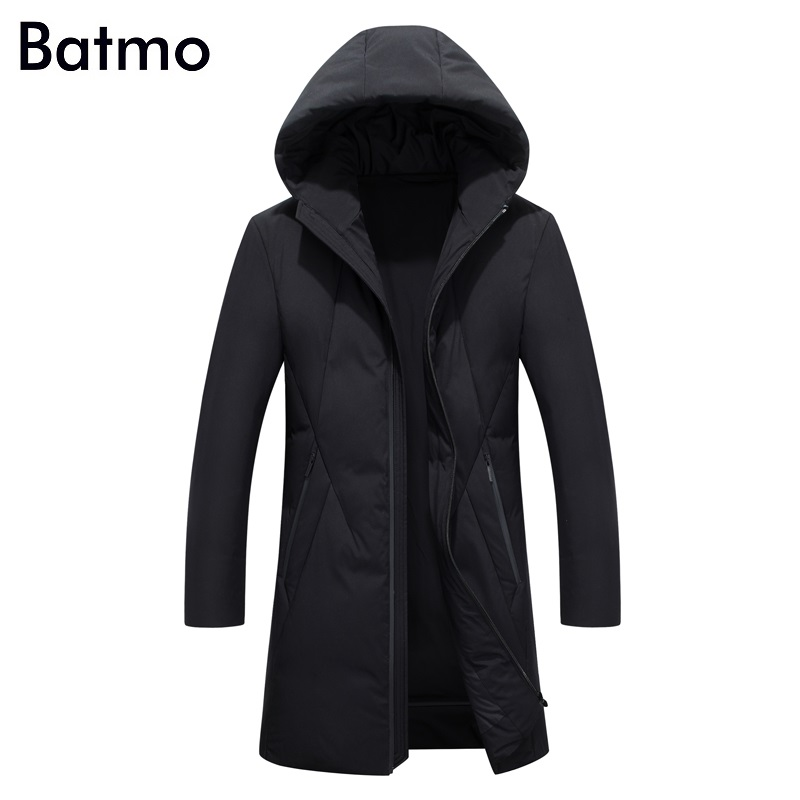 Batmo 2017 new arrival winter high quality 90% white duck down casual hooded jacket men,winter mens coat plus-size ,8902