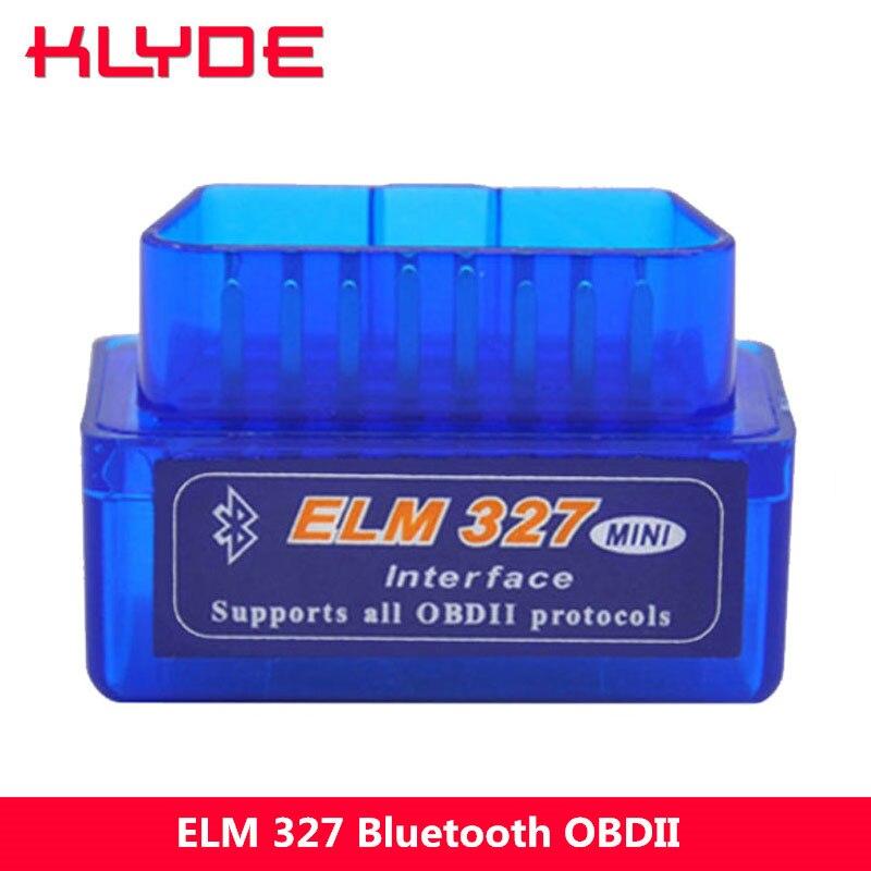 KLYDE ELM 327 V1.5 ELM327 Bluetooth OBD2 v1.5 Android Voiture Scanner Automobile OBD2 Auto Outil De Diagnostic OBDII Scanner Automotriz