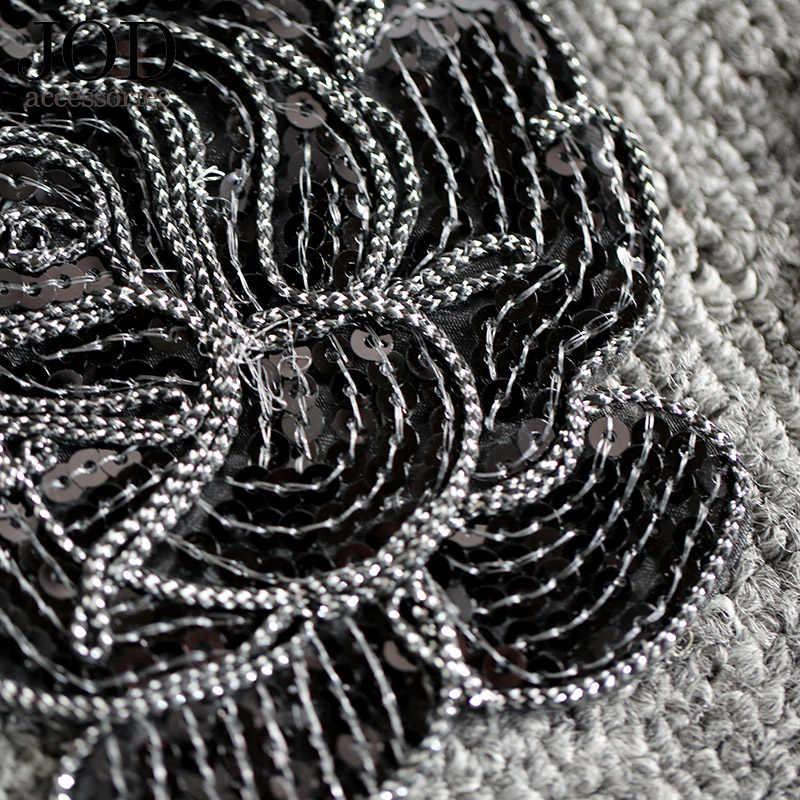 JOD Блестки бисера бренд розы цветок ткань термонаклейки аппликация с вышивкой; шитье декоративная аппликация наклейки для сумок на ткани