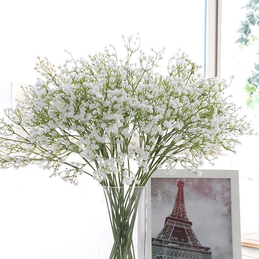 Недорогой искусственный гипсофил, свадебная фотография, реквизит для невесты, искусственный цветочный букет