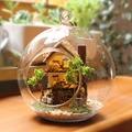 Casa de boneca casa de vidro DIY Kits modelo de madeira casa de bonecas em miniatura Mini Handmade brinquedo de presente de natal