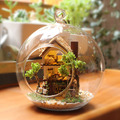 DIY Glass Ball Doll House Model Building Kits Wooden Mini Handmade Miniature Dollhouse Toy Birthday Christmas Gift