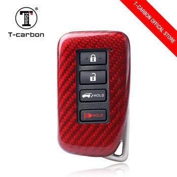 Carbon Fiber Remote Control Car Keychain Key Cover Case For Lexus CT ES GS ISC ISll ISlll LS LX NX RC 4 Button Smart Key