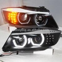 Для BMW E90 CCFL головная лампа Ангельские глазки 2006 2008 год JY