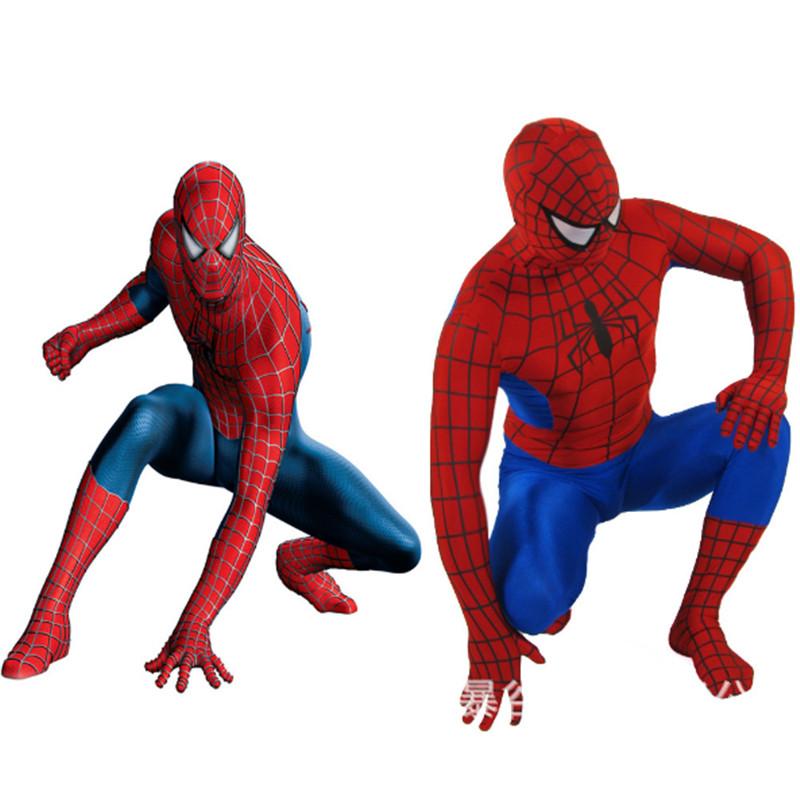 alta calidad adulto spiderman zentai traje muestra superhero man hero pelcula mandy trajes de cosplay del