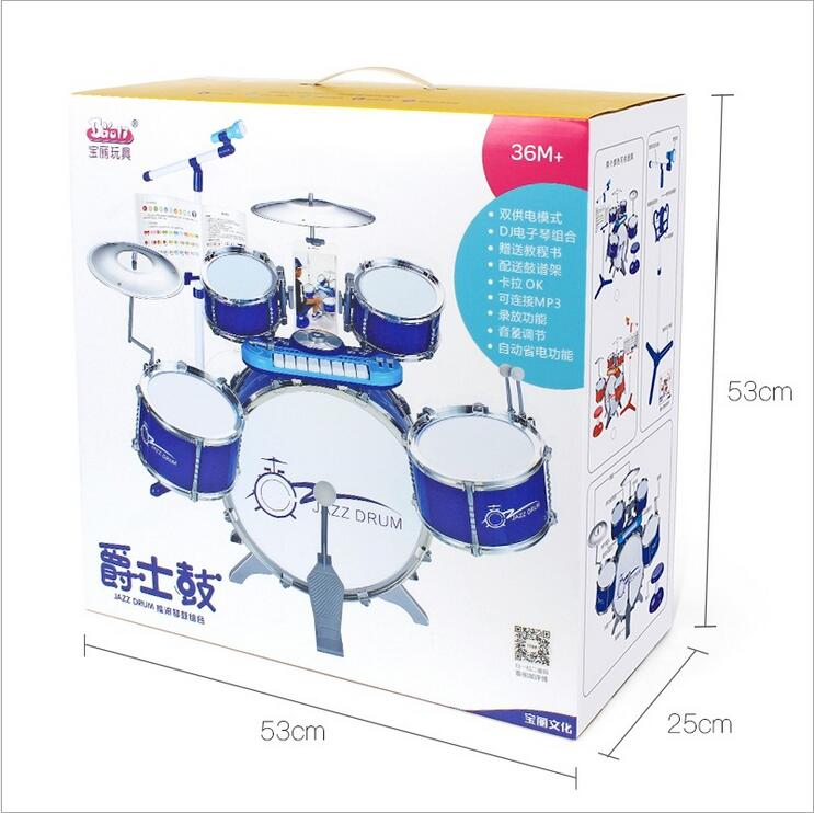 Children 39 s Drums 3 6 years Old Beat Drum Musical Instruments Baby Music Toys Large Drums Musical Toys for Baby Juguetes Gifts in Toy Musical Instrument from Toys amp Hobbies