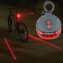 5 светодиодный свет 2 лазеры ночной горный MTB велосипед Защита задних фонарей Предупреждение велосипедная лампа для фары заднего света Bycicle освещение, аксессуары для велосипедов